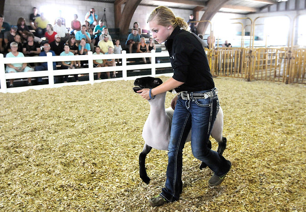 Don Knight   The Herald Bulletin<br /> Supreme Showmanship at the Madison County 4-H Fair on Thursday.