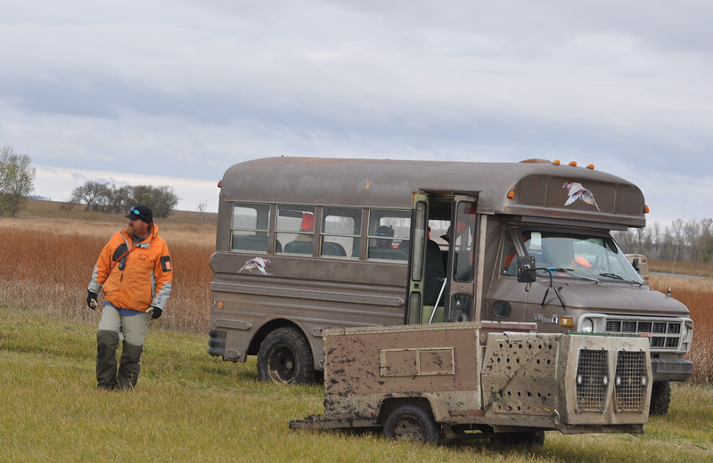 Marty our guide and lodge manager looking for the other bus.