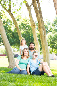 Family portrait of Rayne, Kelley, Micah, and Maylee.