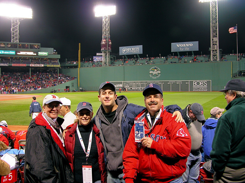 And the Red Sox won the World Series 2004!