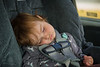 And this is about the first third of the trip. Only a baby can sleep like this and not end up in a hospital.