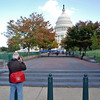 Arnie photographing the US Capitol Building.