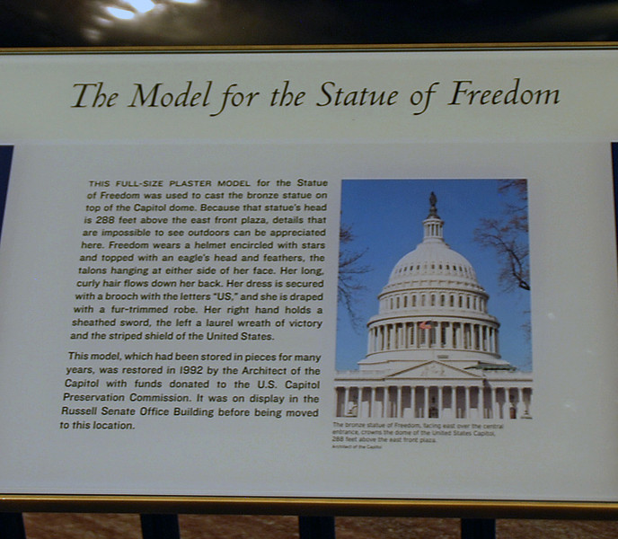 The Statue of Freedom.