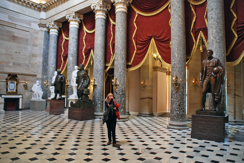 Manette in the US Capitol Statuary Hall, the place where the House met from 1807 to 1857.