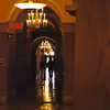 Is this the hallway the newly elected President walks down to enter the stage for their Inauguration Ceremony?