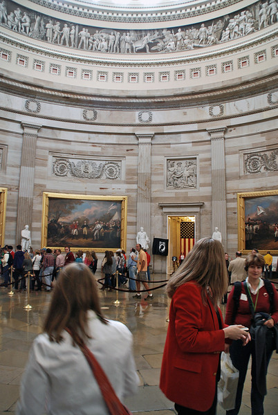 Inside the US Capitol rotunda.
