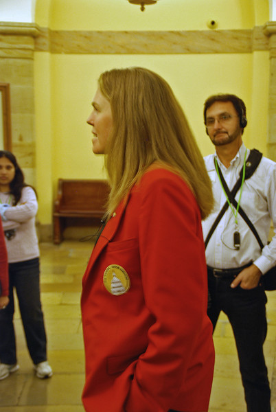 Our tour guide at the US Capitol.