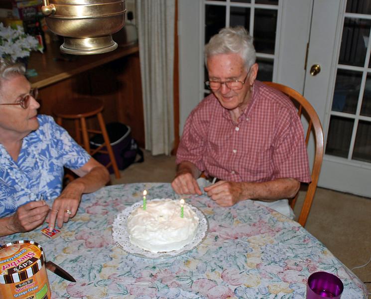 Dad's birthday cake.
