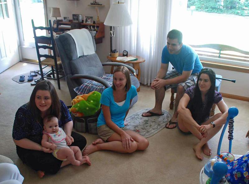 Kristy Main with Kaylee, Lisa Main, Kelly Main, Carole Vanella.