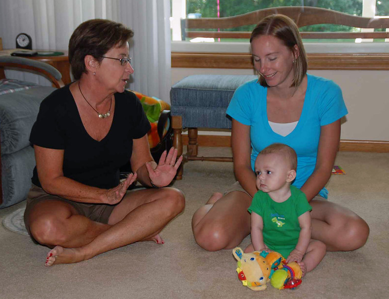 Susan Levenson with Lisa and Parker Main.