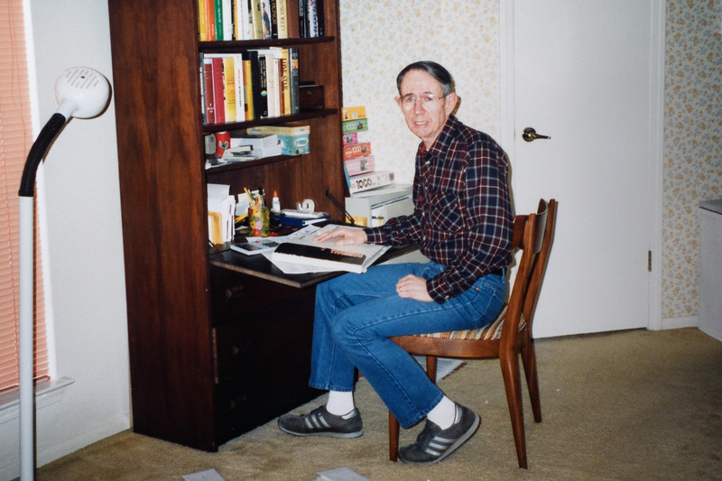 Jim at his desk, 1991