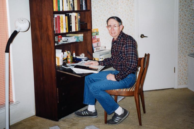 Jim at his desk, 1991