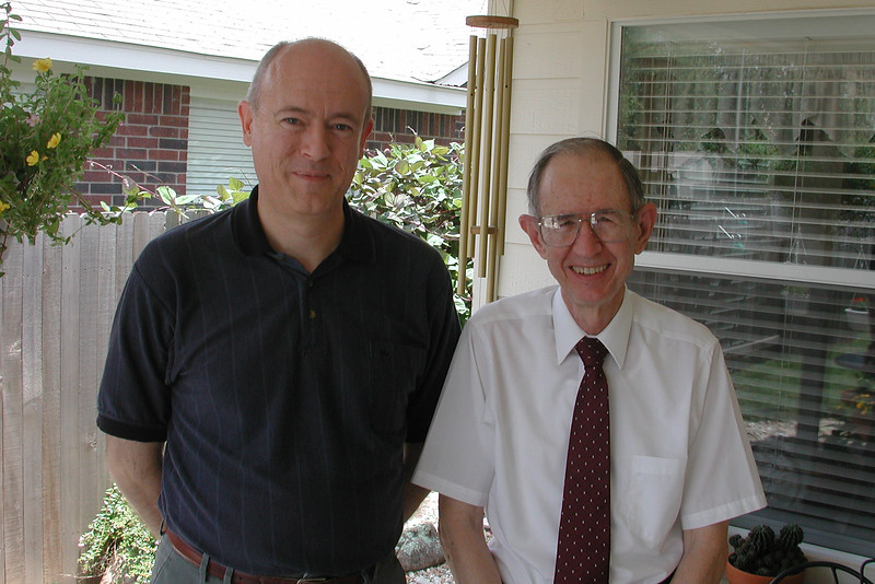 Jim with David Blankenship, 2002