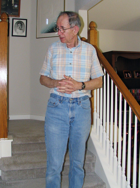 Jim in his Round Rock home, 2005