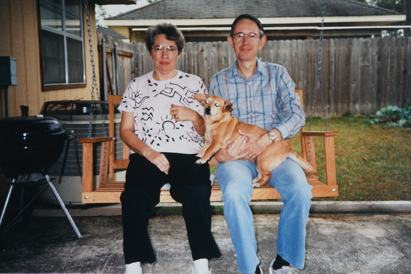 Betty and Jim with Cindy, 1986