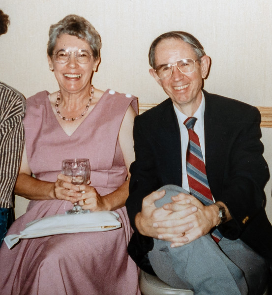 Jim and Betty at Kate's graduation, 1990