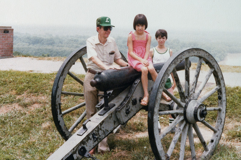 Jim, Kate, and John on vacation, 1980