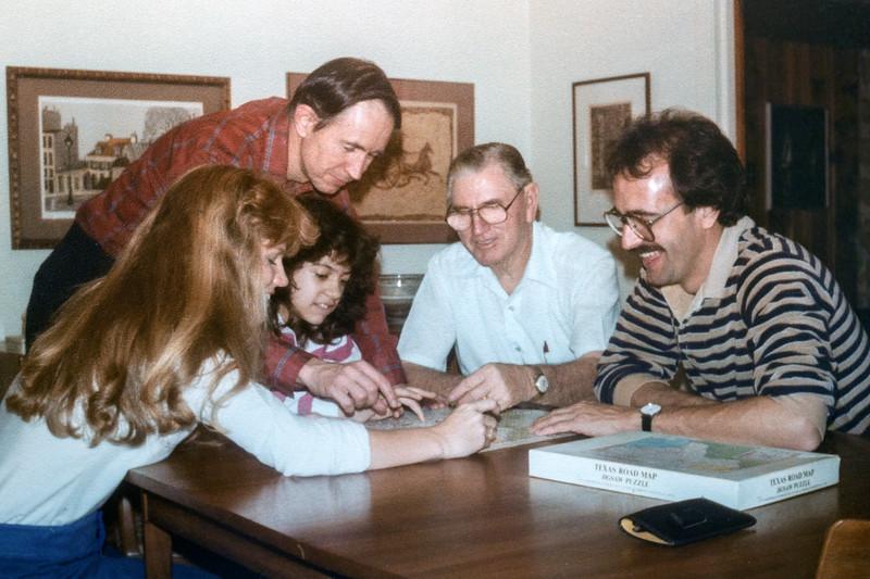 Jim, Kate, Pink, David (and friend), 1983