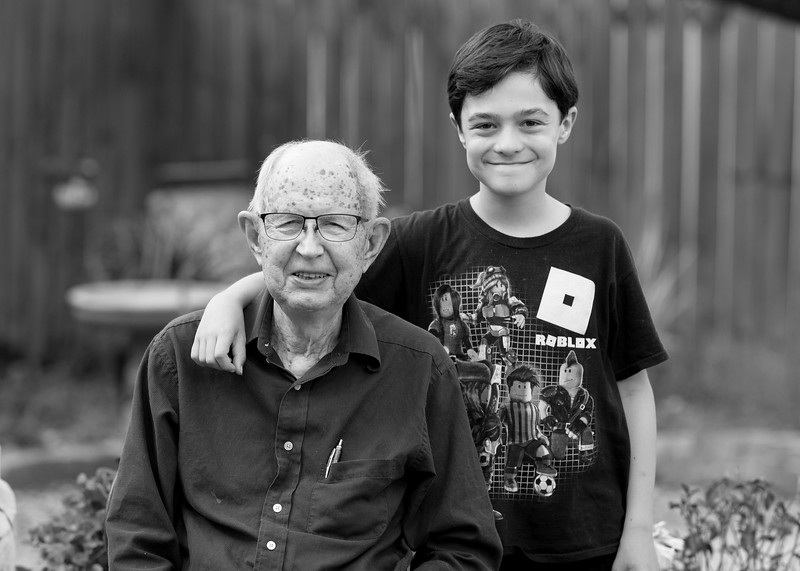 Grandpa with Logan, 2018