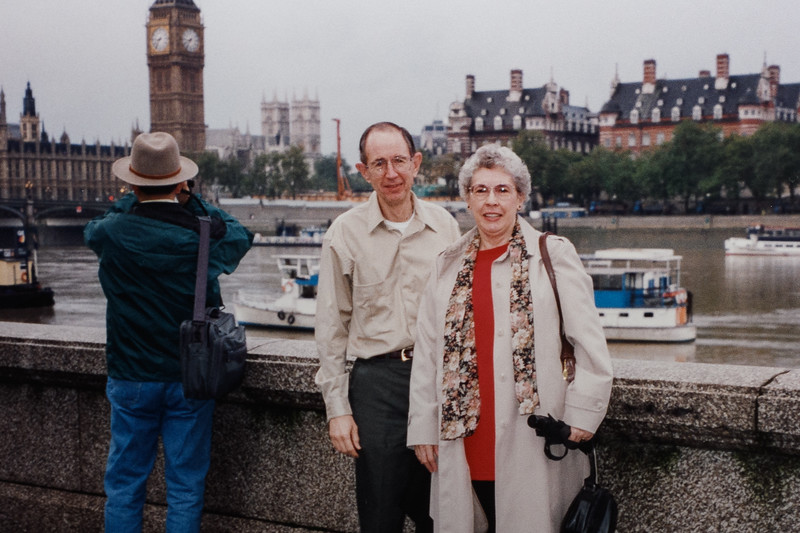 Jim and Betty in London, 1994