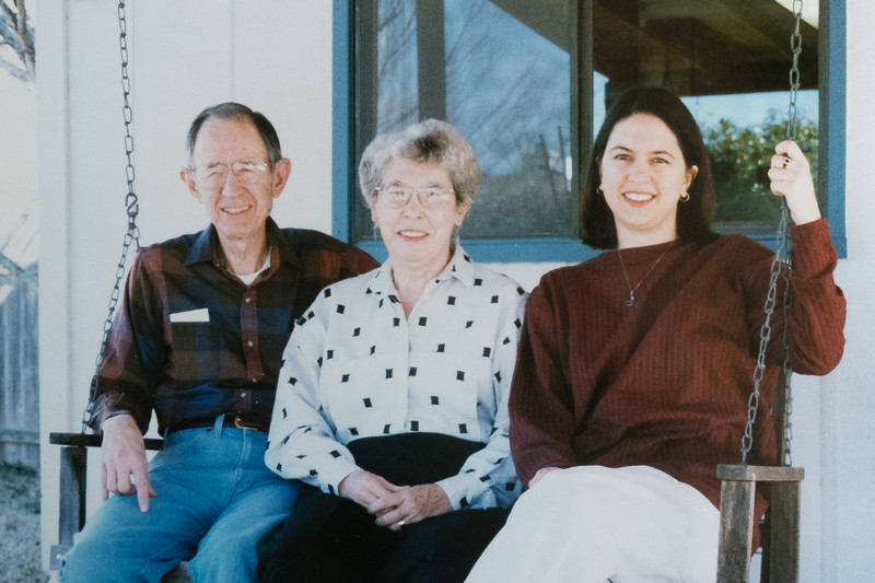 Jim, Betty, Kate, 1996