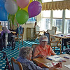 We delivered Mom's birthday balloons while she was playing bingo.
