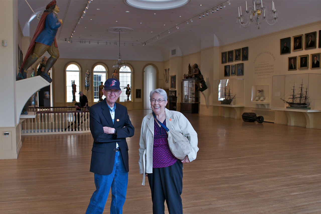 Jim and Betty at Peabody Essex Museum in Salem