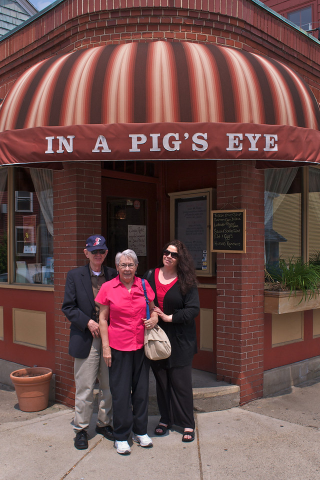 Jim, Betty, and Janet at the Pig