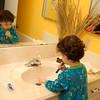 Logan loves to brush his teeth