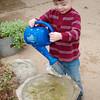 Logan loved that watering pail