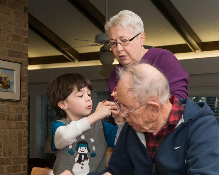 Logan and grandparents