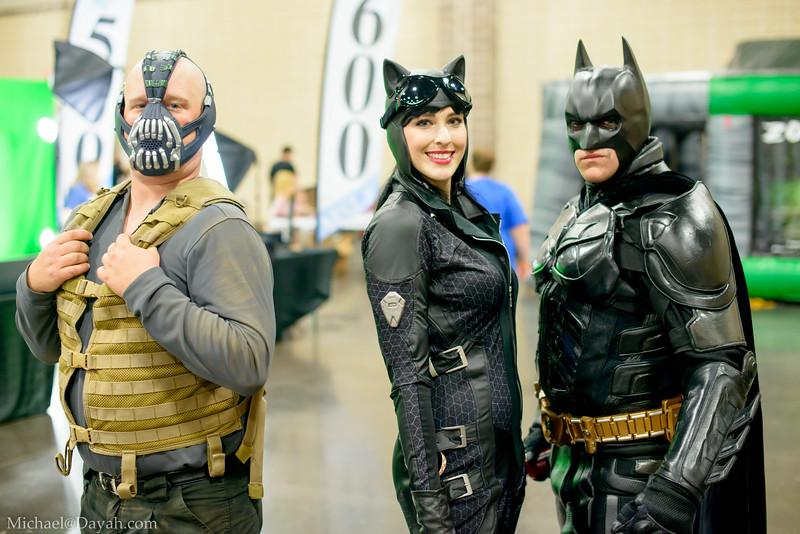 Bane, Catwoman, Batman