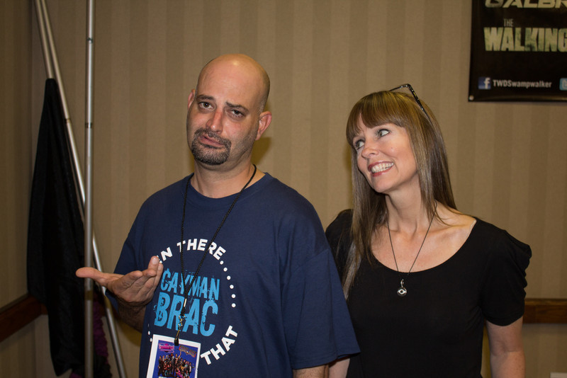 Me and Deborah Foreman reenacting the scene with her and Nicholas Cage in Valley Girl