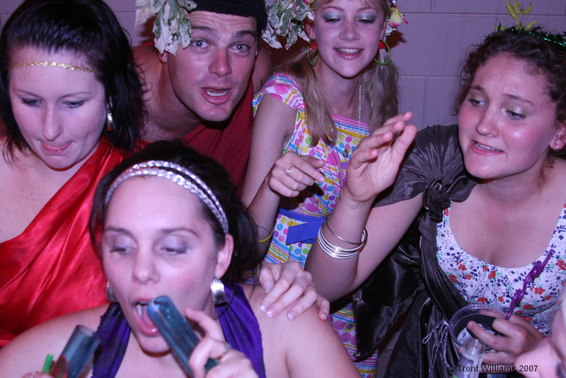 "<a href=""http://trent.smugmug.com/gallery/3684954"">Parties > Niki's Nineteeth</a> (19 photos)  Toga party. Just what we needed after a days climbing at Mt Stuart. 21 Sep 07  Adjacent photo: A random party shot... (<a href=""http://trent.smugmug.com/gallery/3684954"">view gallery</a>)"