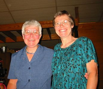 Judy and Sandy, who have worked together on the health library project