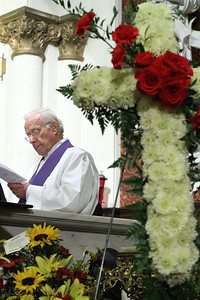 Retired Msgr. Thomas Kane of the Archdiocese of Washington was the homilist for the solemn vespers service. Msgr. Kane and Archbishop John F. Donoghue grew up as boyhood friends in Washington, D.C.