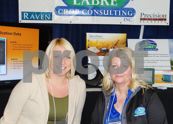 Stephanie Bowden and LuAnn Johnson from Labre Crop Consulting, Inc.