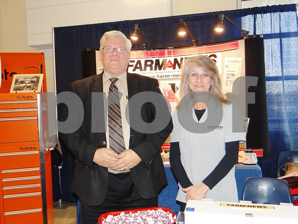Dave Svaleson (from The Messenger) and Jana Ewing (from Farm News)