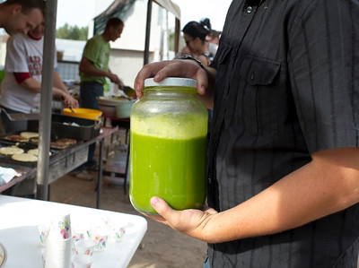 breakfast on the farm at quail hollow farm csa in overton nevada in this image