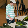 Terri Mounteby-Pepka was the official zuccini judge, weighing them and measuring them