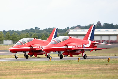 Red Arrows Demonstration Team, Farnborough 2008