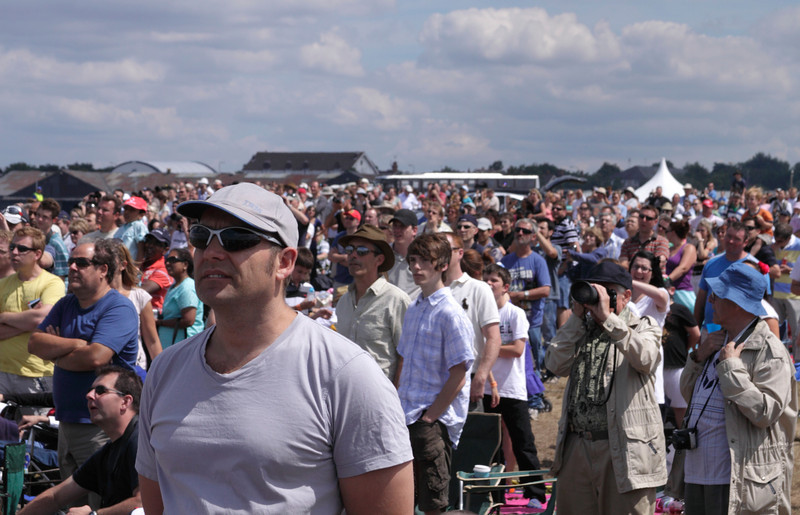 Spectators at the Farnborough Airshow 2010