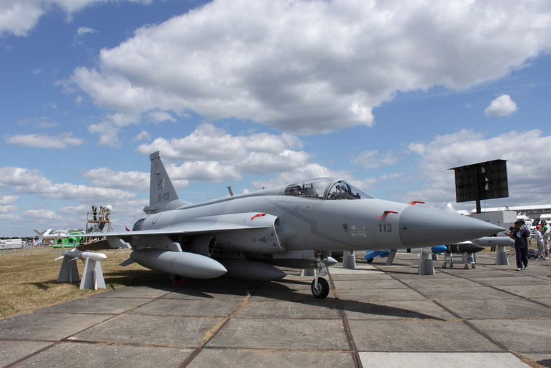 JF-17 Thunder of the Pakistan Air Force at Farnborough Airshow 2010