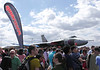 RAF Vulcan Bomber and spectators at Farnborough Airshow 2010
