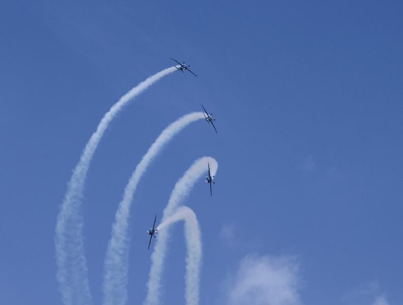 The Blades RAF aerobatic team Farnborough Airshow 2010