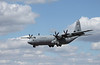 US Air Force Hercules landing at Farnborough Airshow 2010