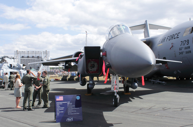 F15E Strike Eagle on display Farnborough Airshow 2010