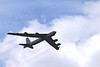 Boeing B52 Stratofortress strategic bomber flying at Farnborough Airshow 2010