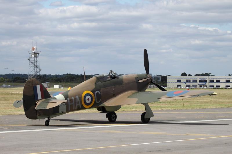 Hawker Hurricane at Farnborough Airshow 2010