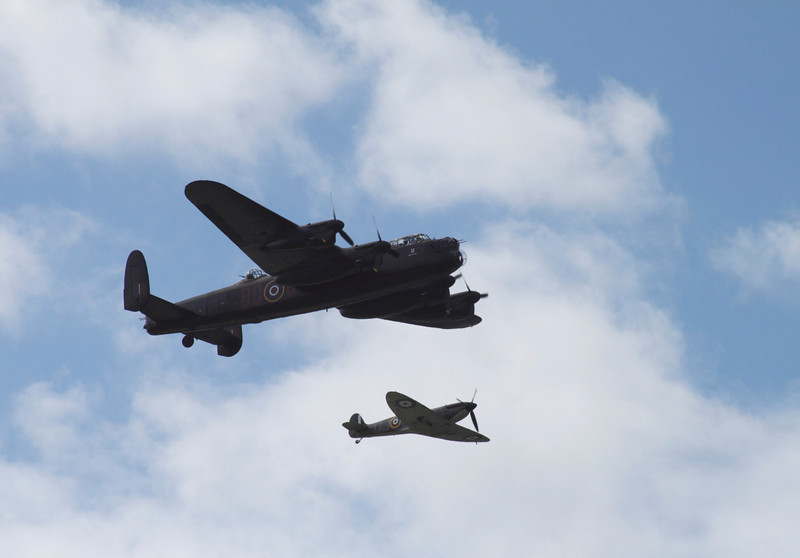 Battle of Britain Memorial Flight at Farnborough Airshow 2010